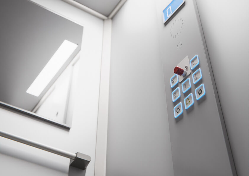 Home lift controls and handrail