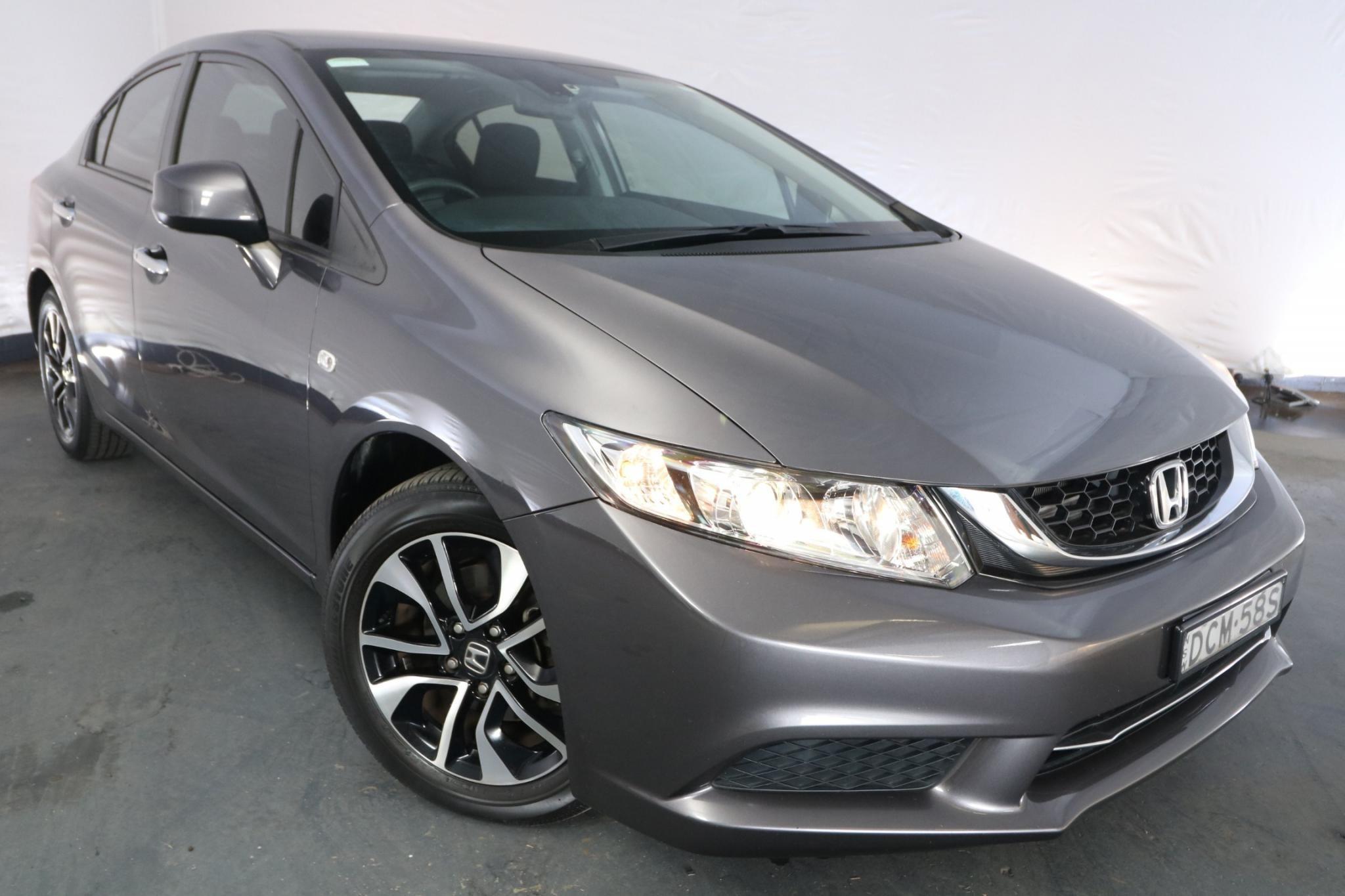 2015 Honda Civic VTi-S SERIES 2 MY15 / 5 Speed Automatic / Sedan / 1.8L / 4 Cylinder / Petrol / 4x2 / 4 door / Model Year '15 November release SBC15A