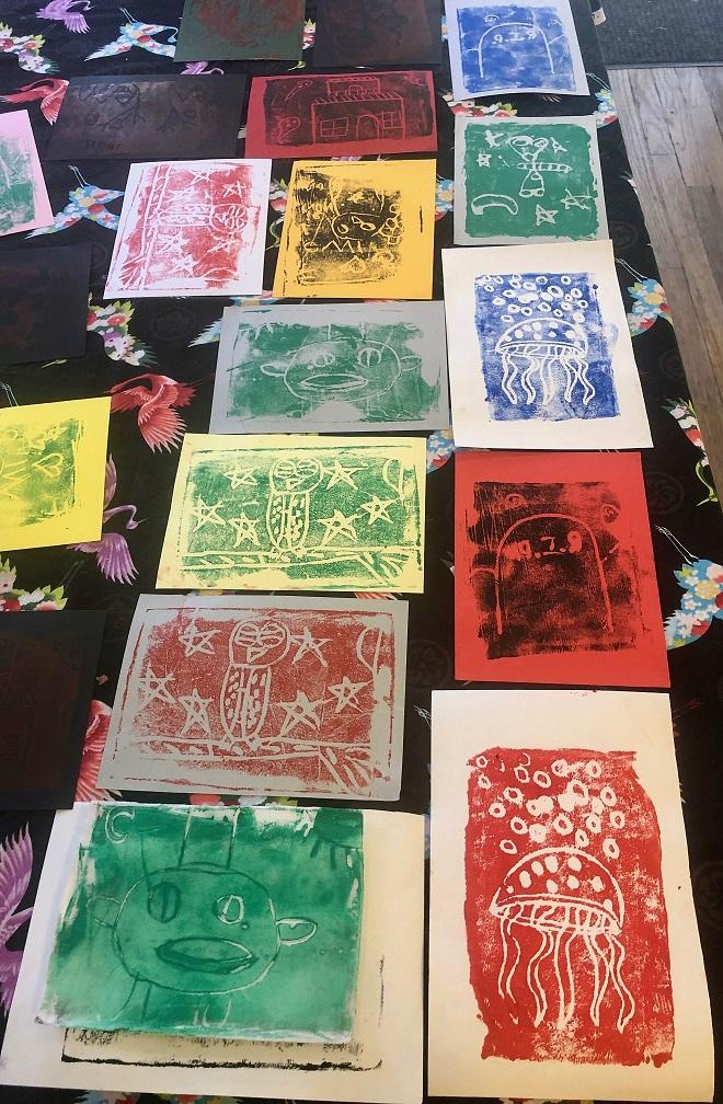 Styrofoam Block Prints