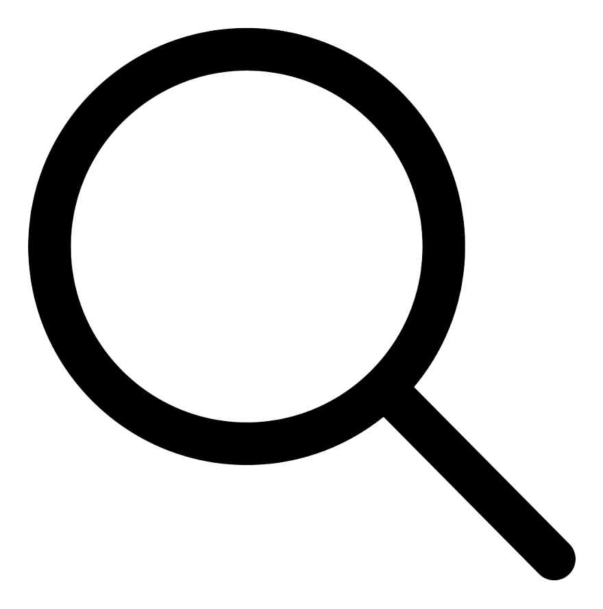 Magnifying glass icon for search functionality