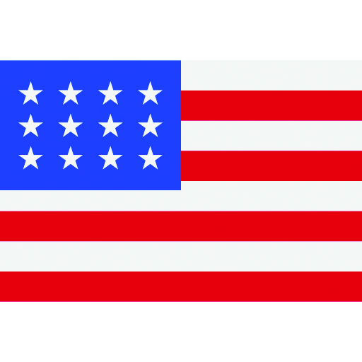 Red, white, and blue American flag icon