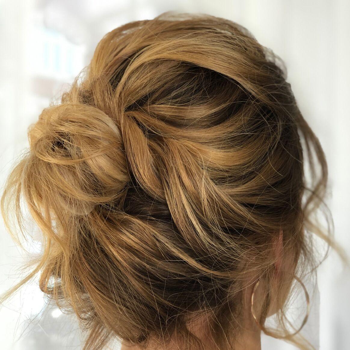 gorgeous-romantic-boho-bridal-messy-bun-wimbledon