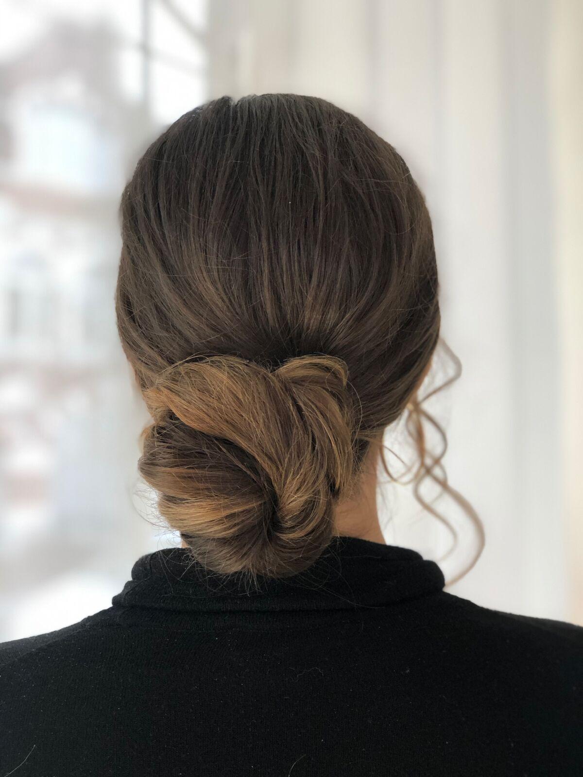 Classic-bun-hair-style-with-soft-curls- Wimbledon