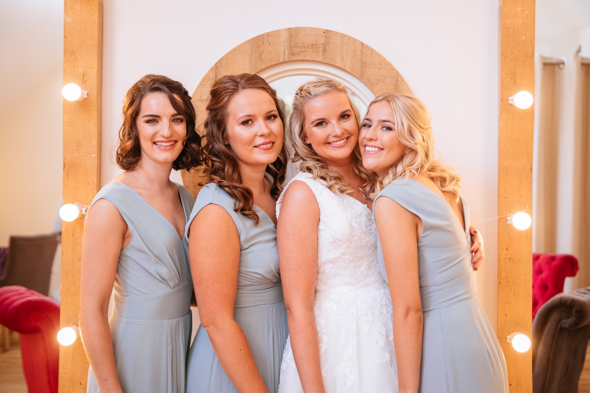 bride-and-bridesmaids-on-wedding-day-in-London