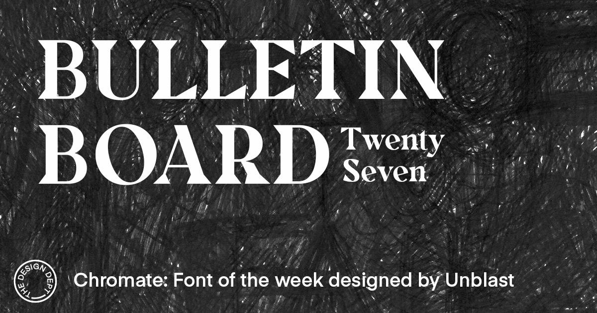 Bulletin Board #27