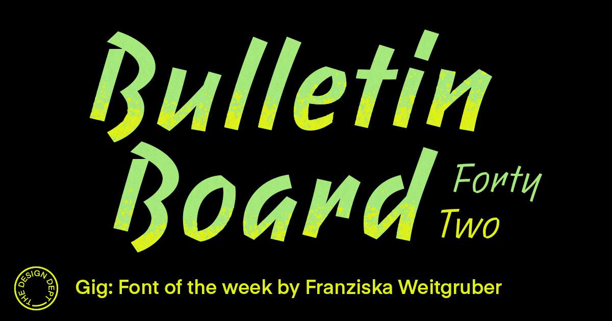 Bulletin Board #42