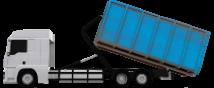 dumpster rental delivery truck