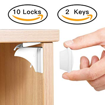 Image result for magnetic child safety locks for cupboards