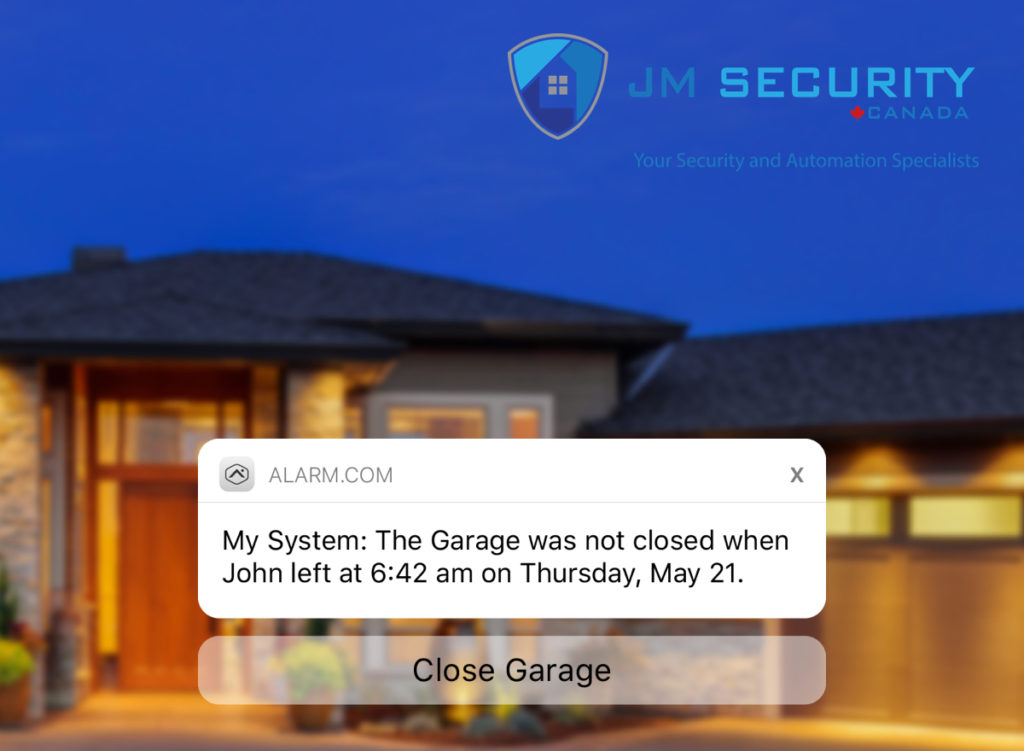 JM Security Canada Garage Door Reminder for Home Automation