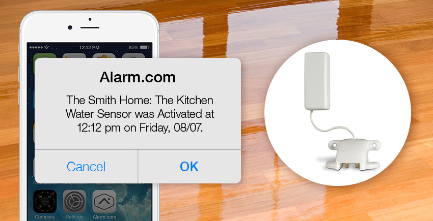 Smart Home Automation Water Alarm Sensor