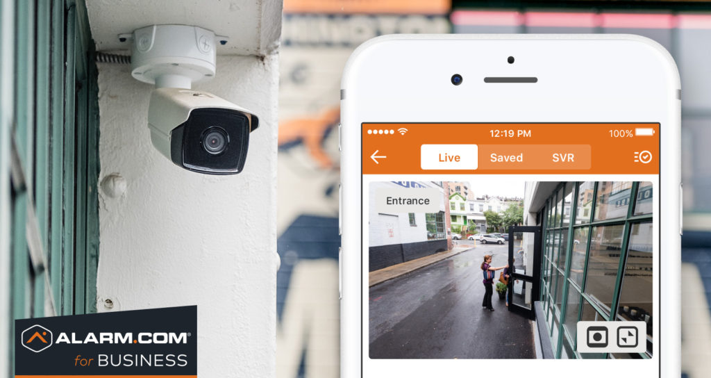 Outdoor camera for business