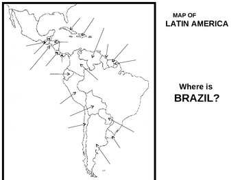Latin America Map Acitivty