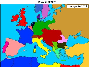 WWI: Map of 1914 Europe