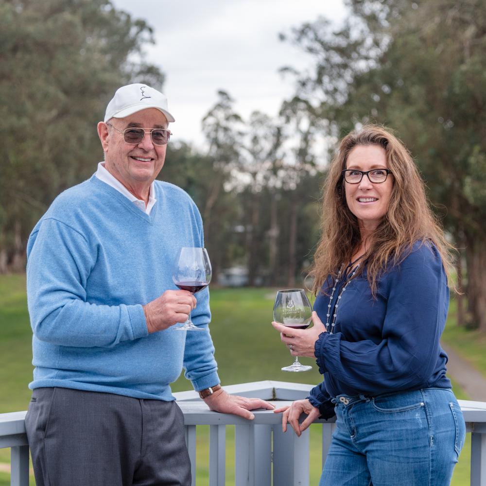 Aptos Vineyard co-owners James Baker and Tina Cacace