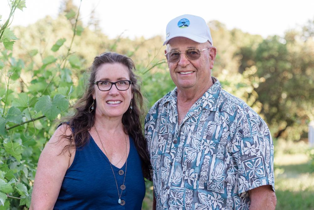 Tina Cacace and James Baker, co-owners of Aptos Vineyard