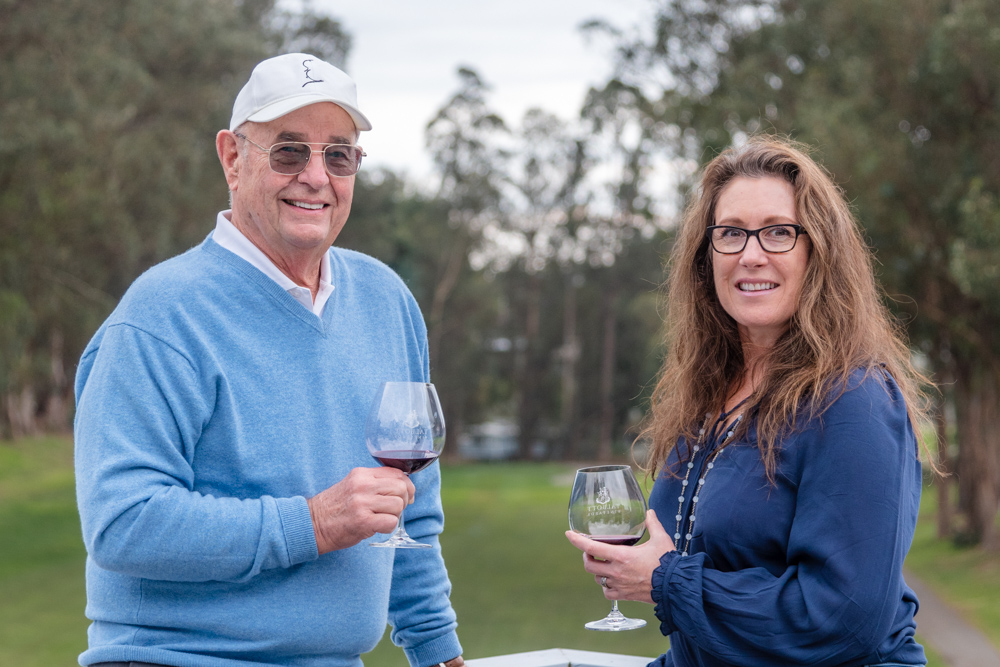 James Baker and Tina Cacace, the co-owners of Aptos Vineyard