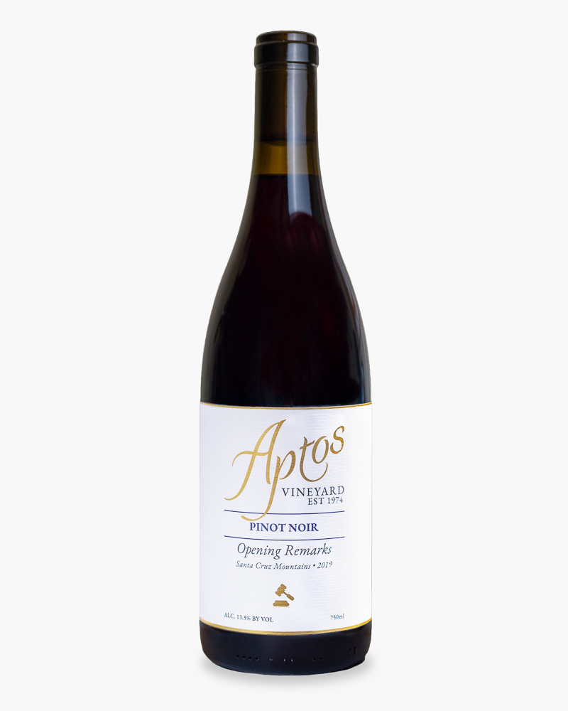 Aptos Vineyard 2019 Pinot Noir wine bottle