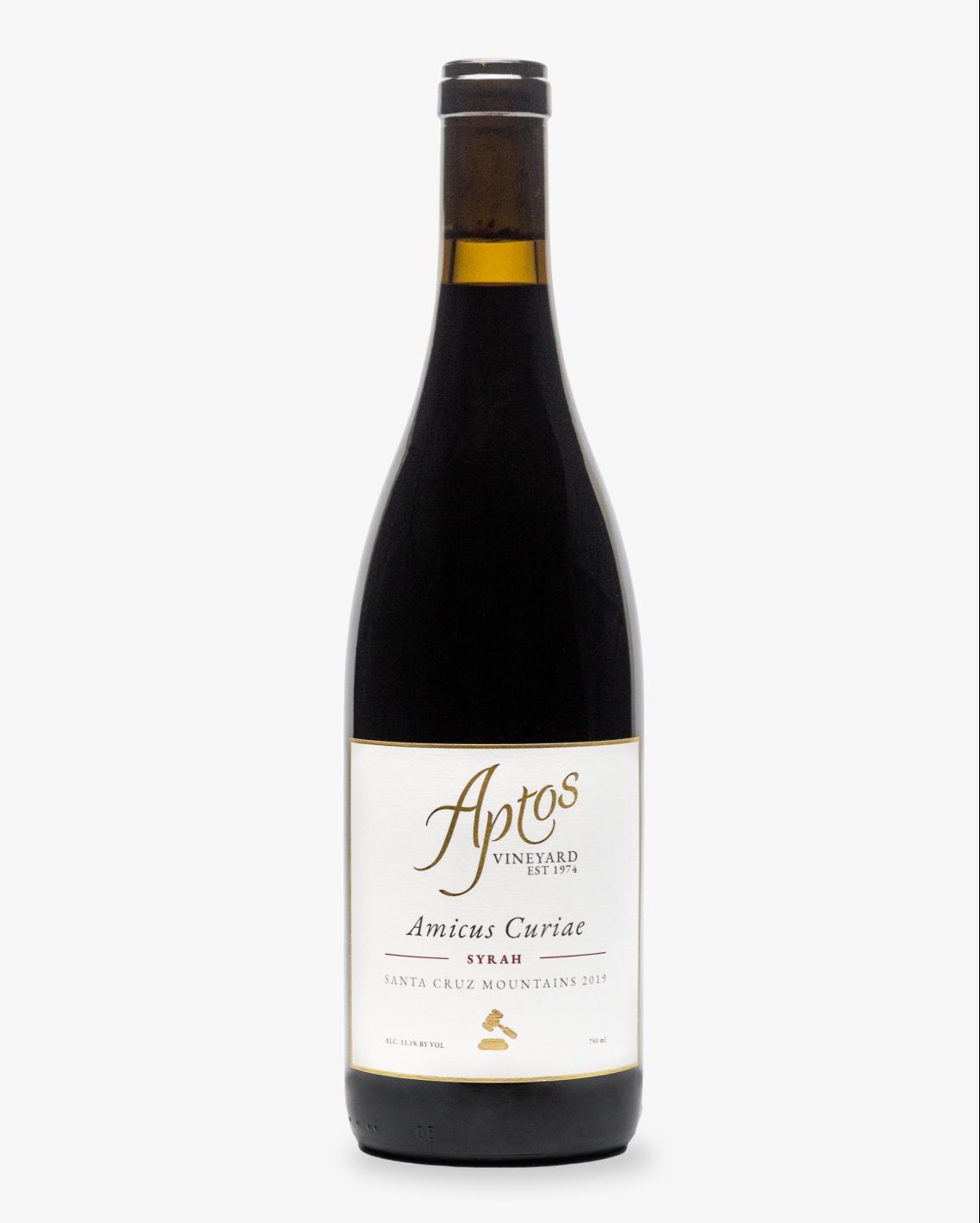 Aptos Vineyard 2019 Syrah bottle of wine