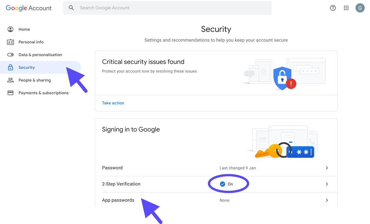 google-account-security-tab