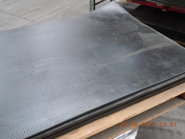 Rubber impact plates are using as a landing and damping element.