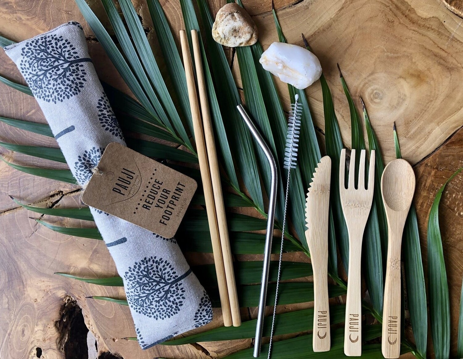 Bamboo Cutlery Set - Tree Design