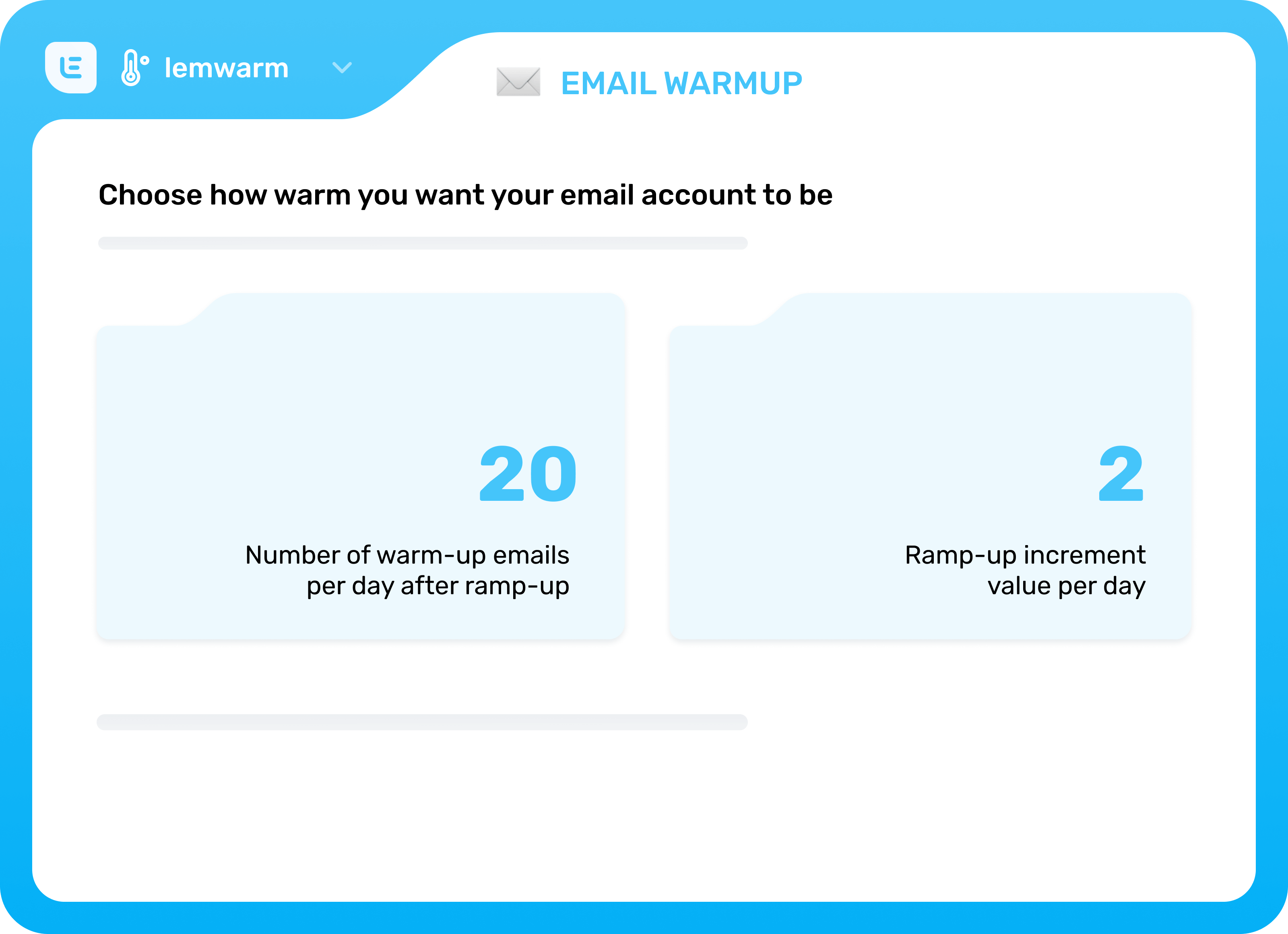 email warm up tool