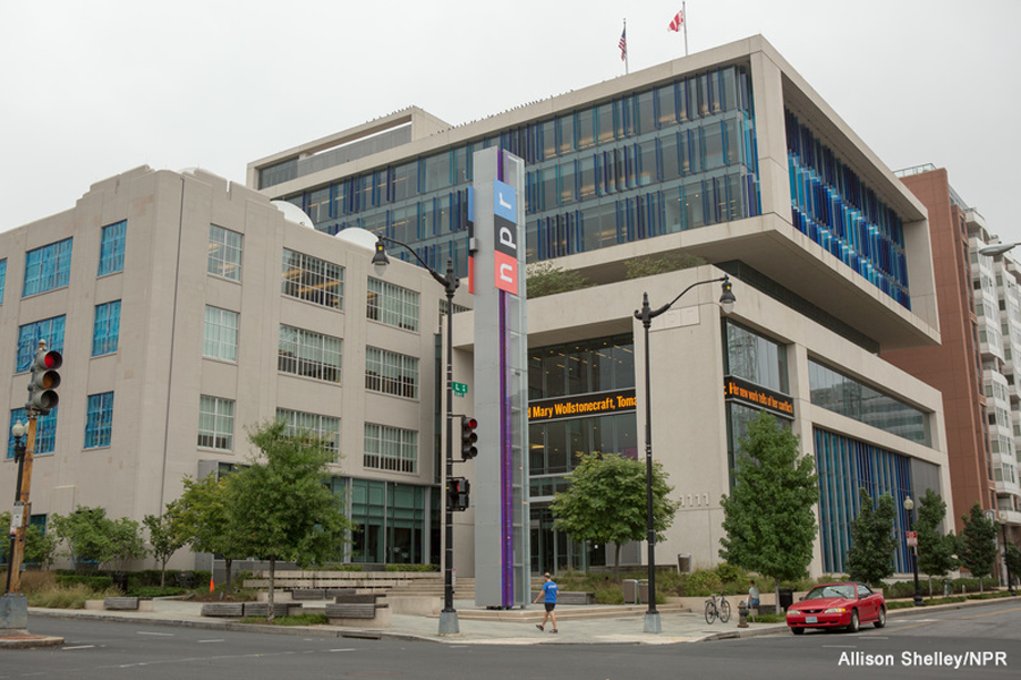 An image of the NPR Headquarters in Washington, DC