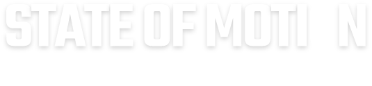 Black and white version of State of Motion logo text only