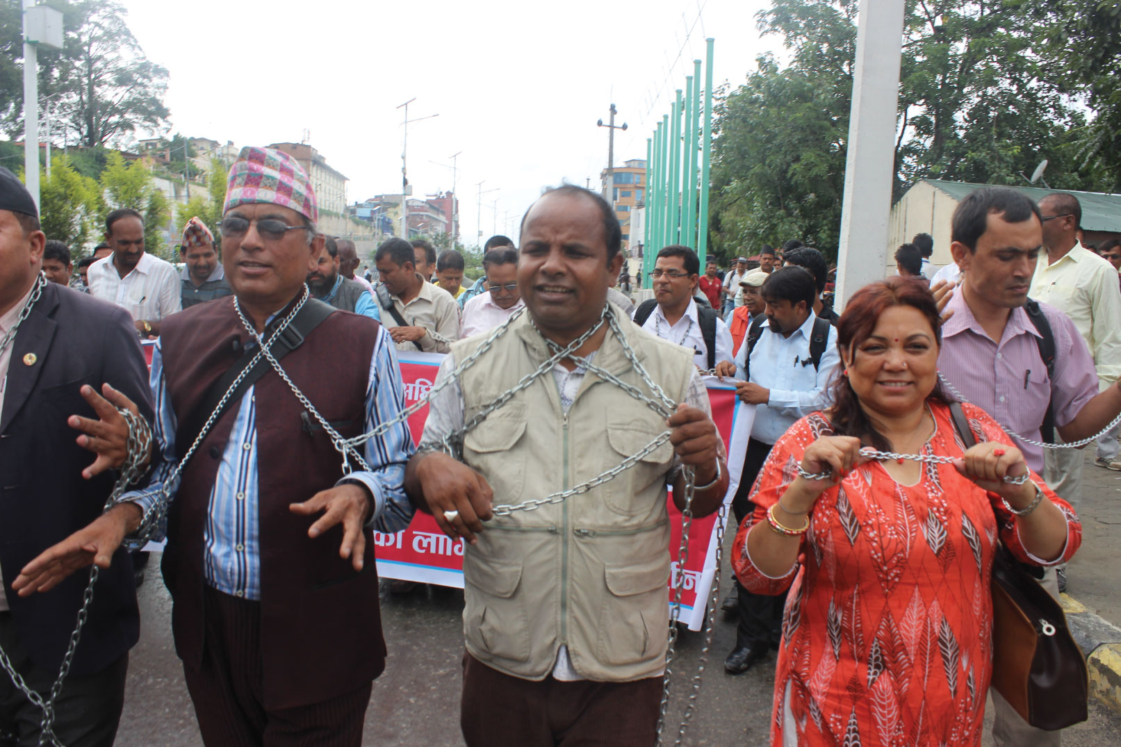 Marching at caste protest