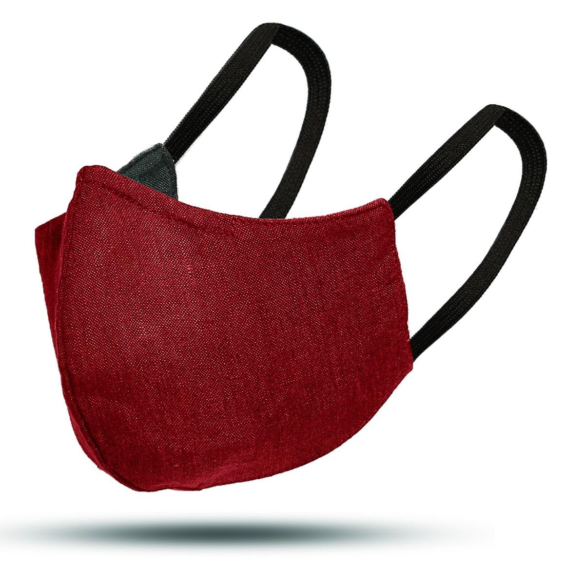Irish Linen Mask Red/Grey