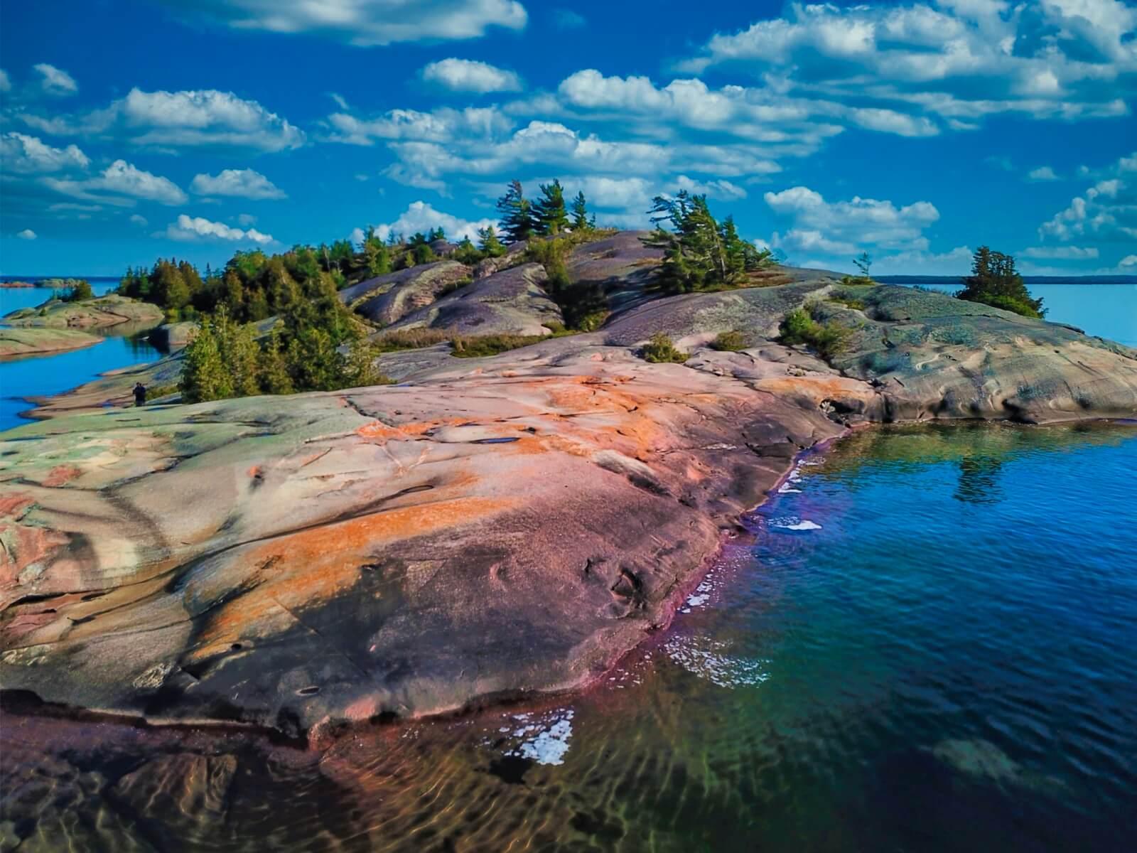 View of breathtaking Benjamin Islands.