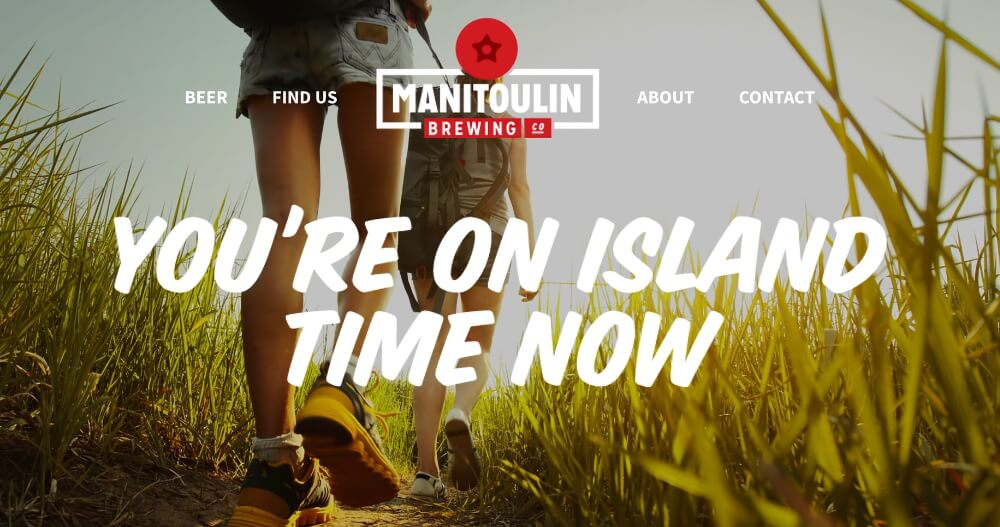 Local craft beer from Manitoulin Brewing Company