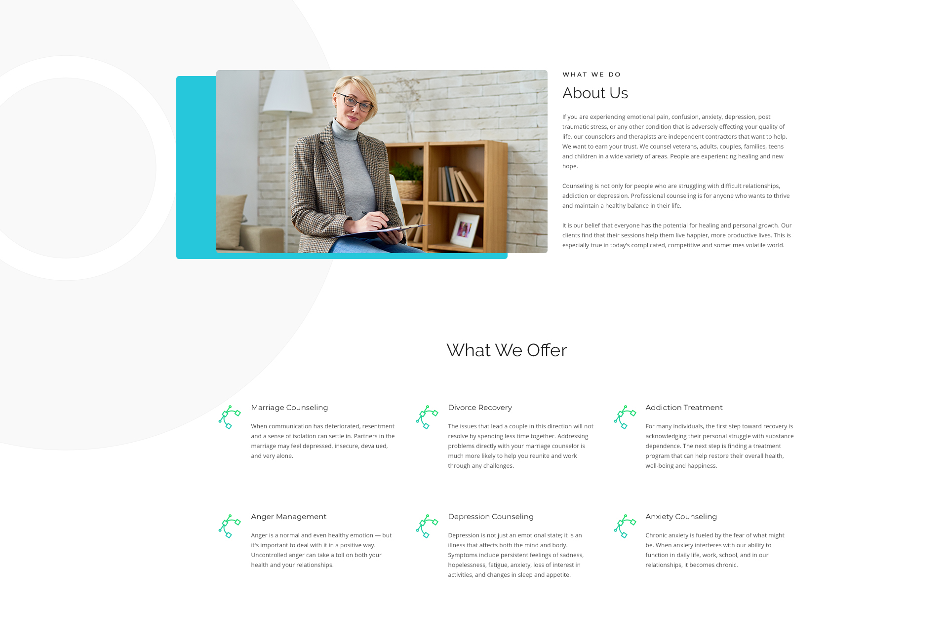 Website Example for Therapists