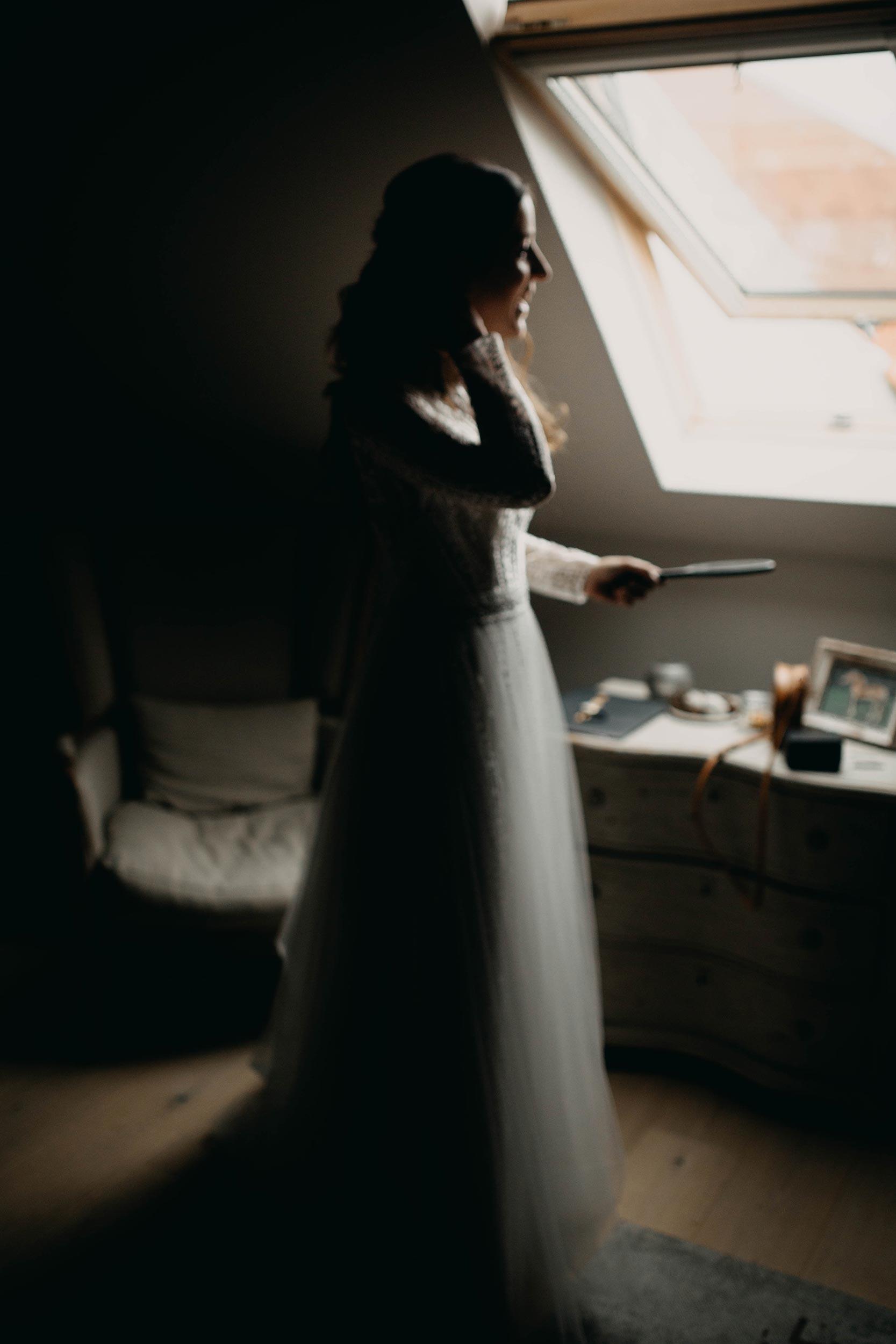Blurry picture of the bride, vage beeld van een bruid