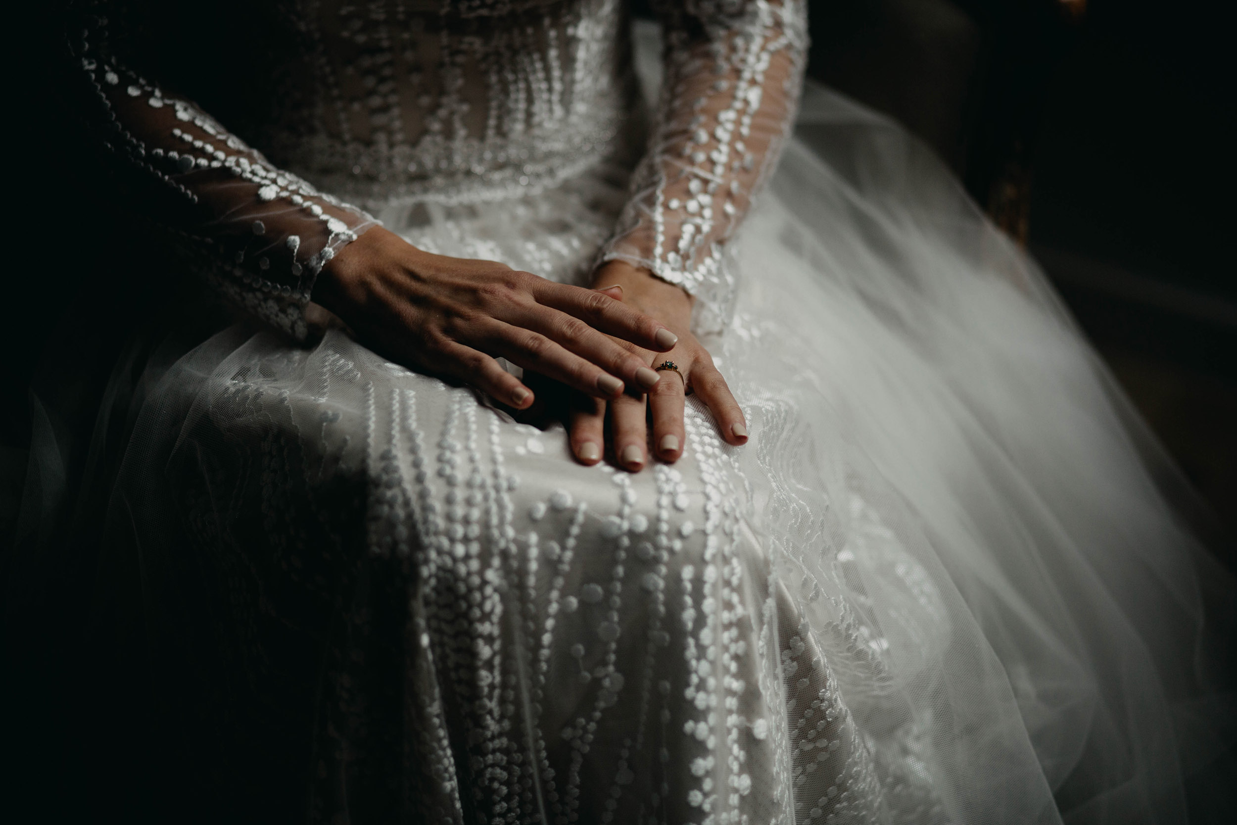 de trouwjurk Elena van Modeca ziet er prachtig uit