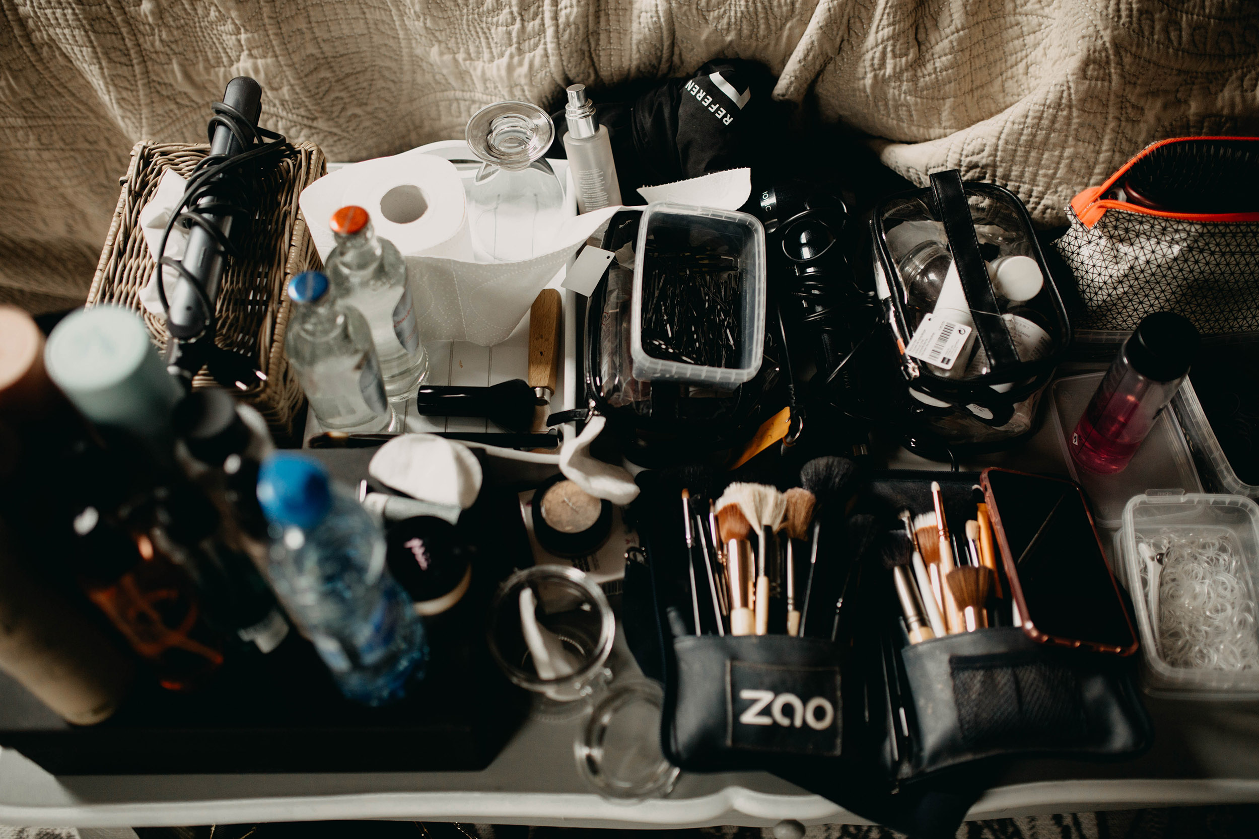 objecten van make-up artiest