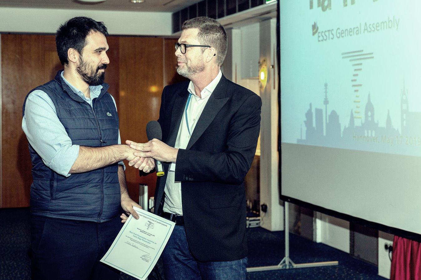 Fotis TSETSOS-1st prize-Best oral presentation
