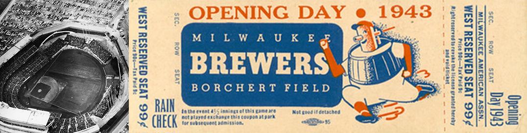 Milwaukee Brewers Rebrand Vintage Ticket