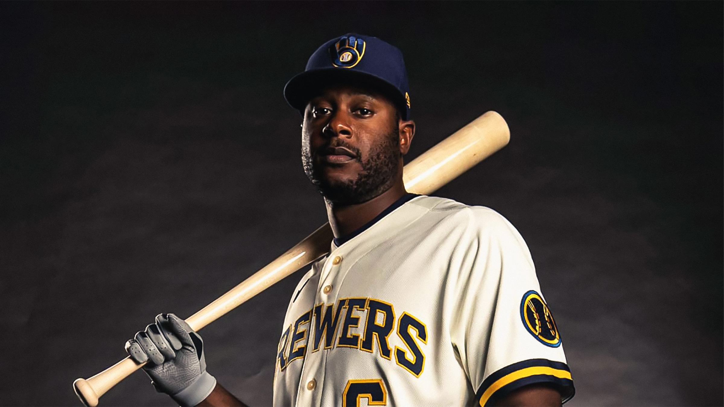 Lorenzo Cain Milwaukee Brewers New Uniform