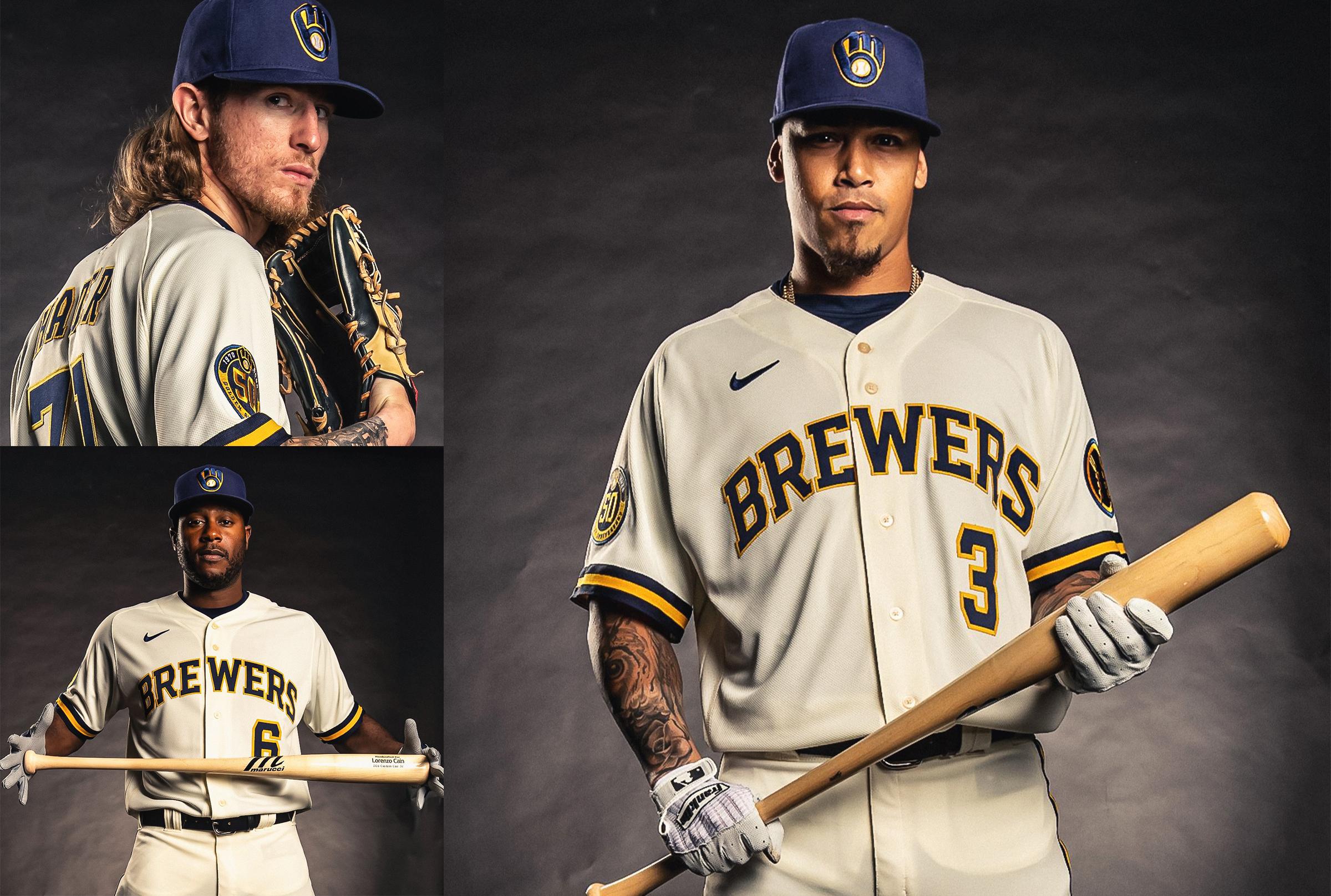 Group Photo Milwaukee Brewers New Uniform