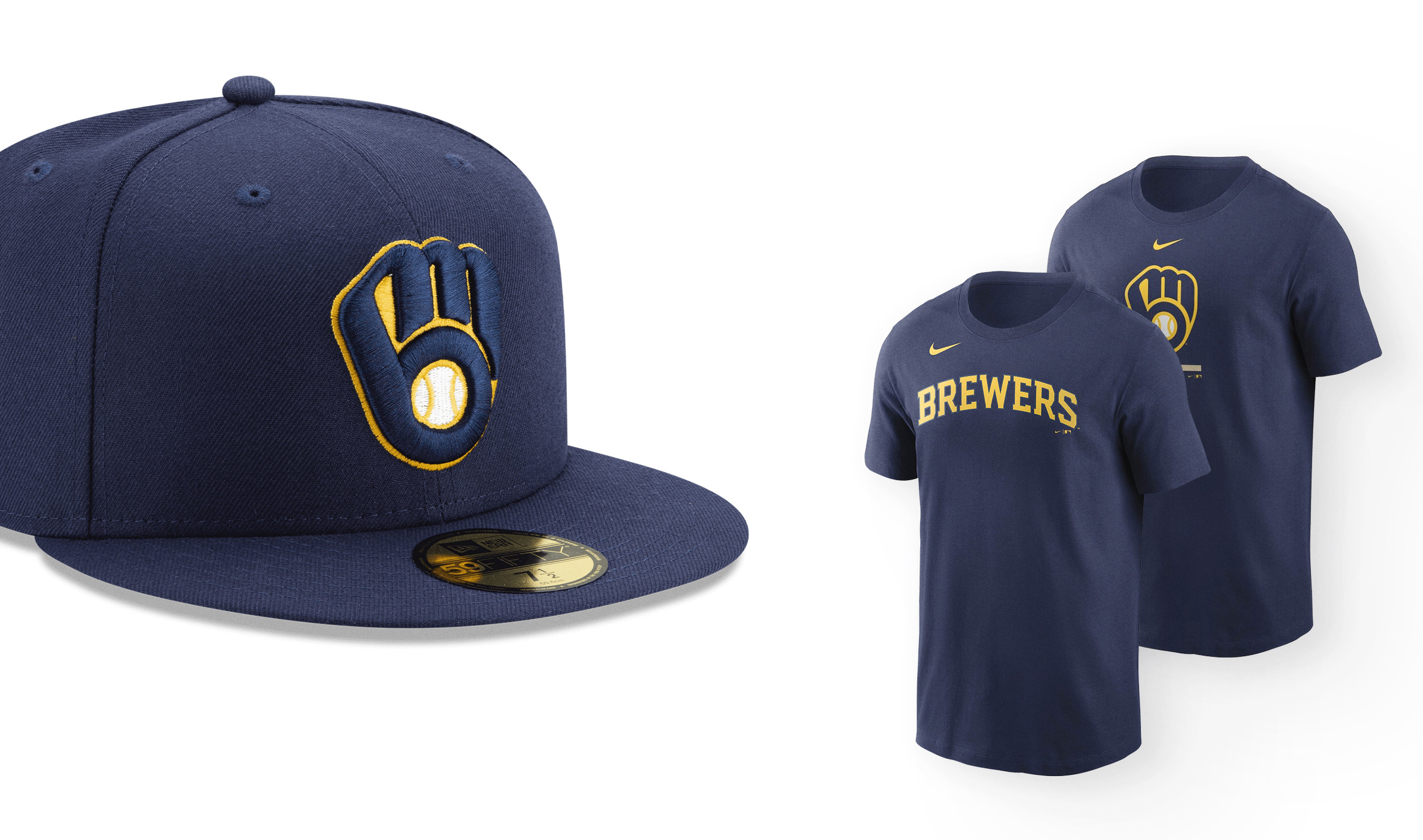 Milwaukee Brewers New Logo Hat And Shirt