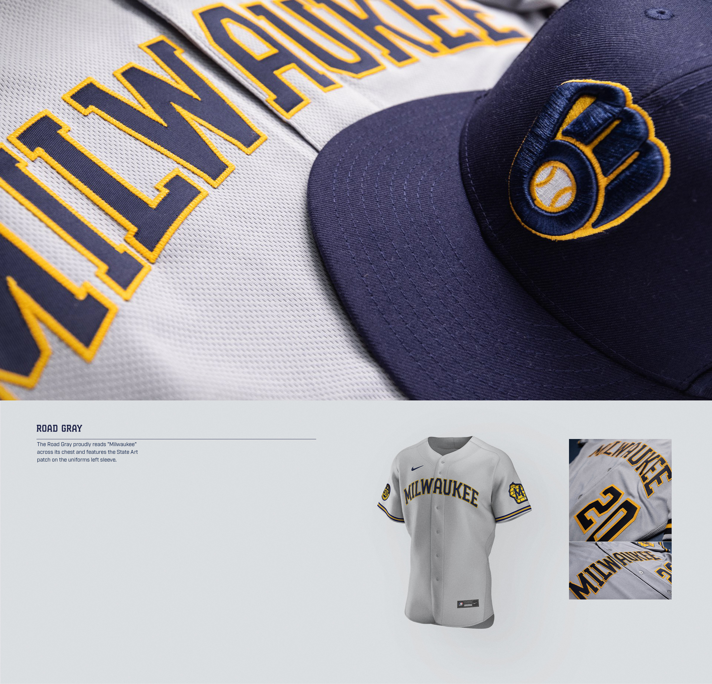 Brewers Uniform Road Gray Jersey