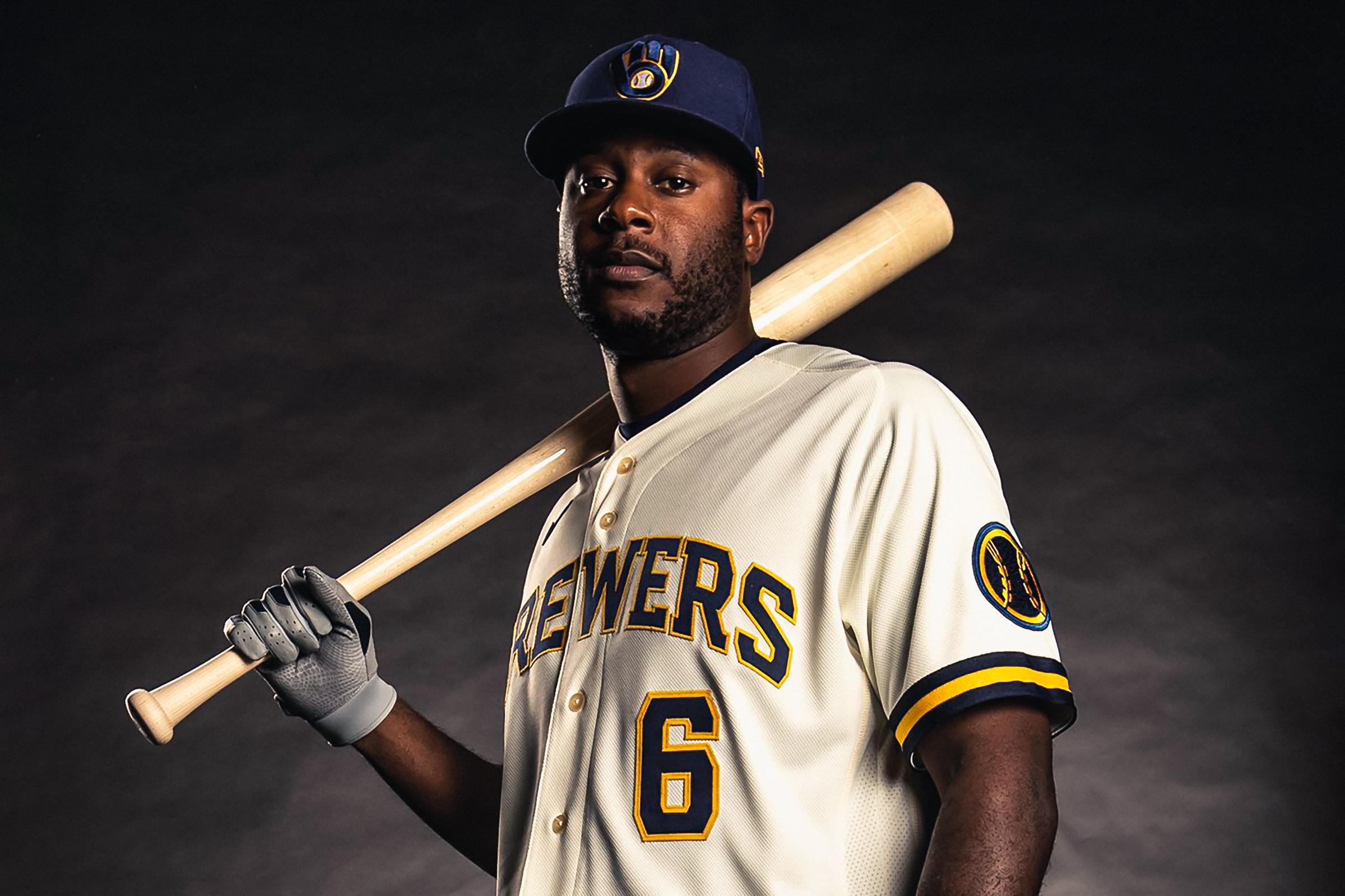 Milwaukee Brewers Rebrand Uniforms Lorenzo Cain