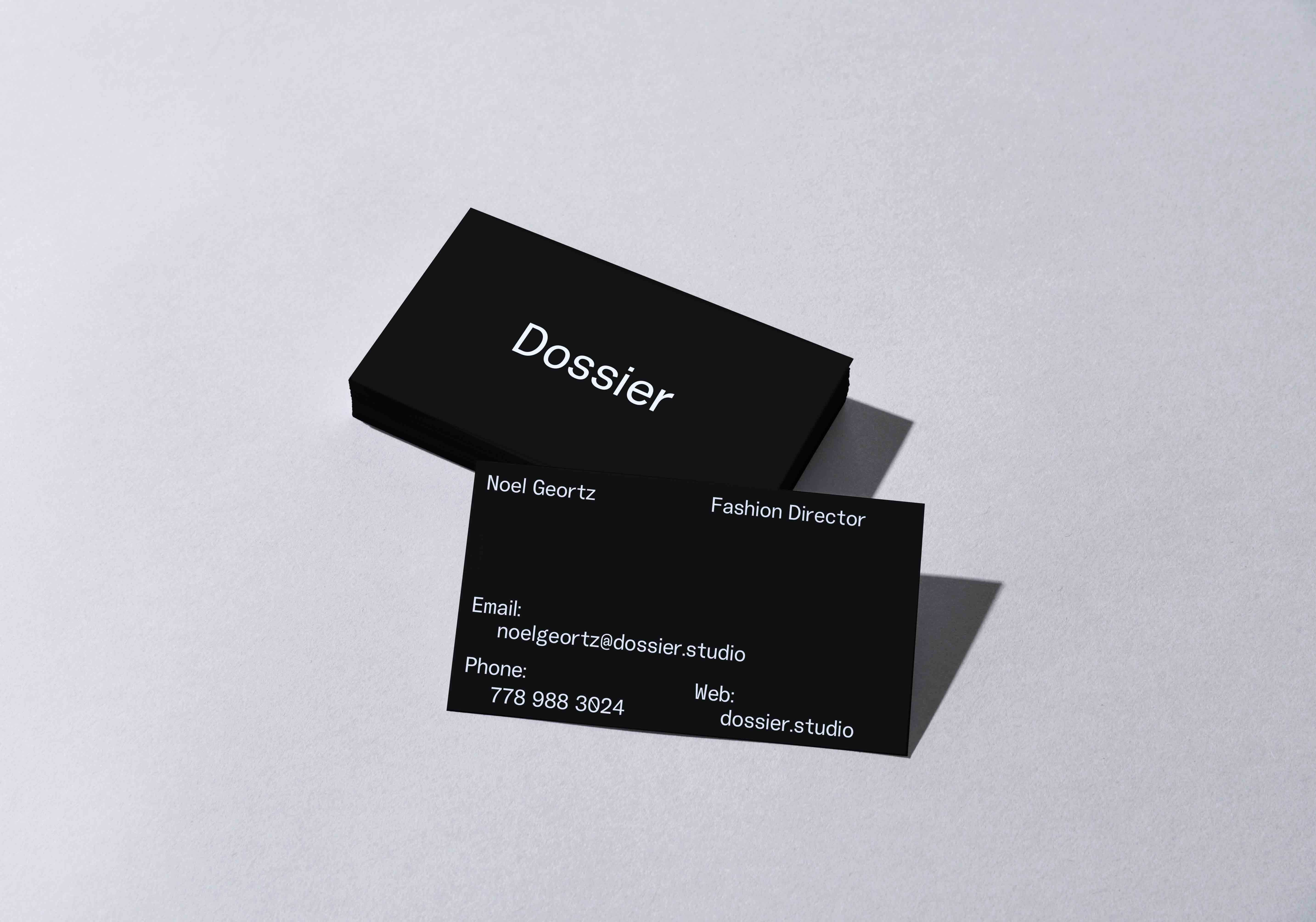 Dossier Branding Business Card