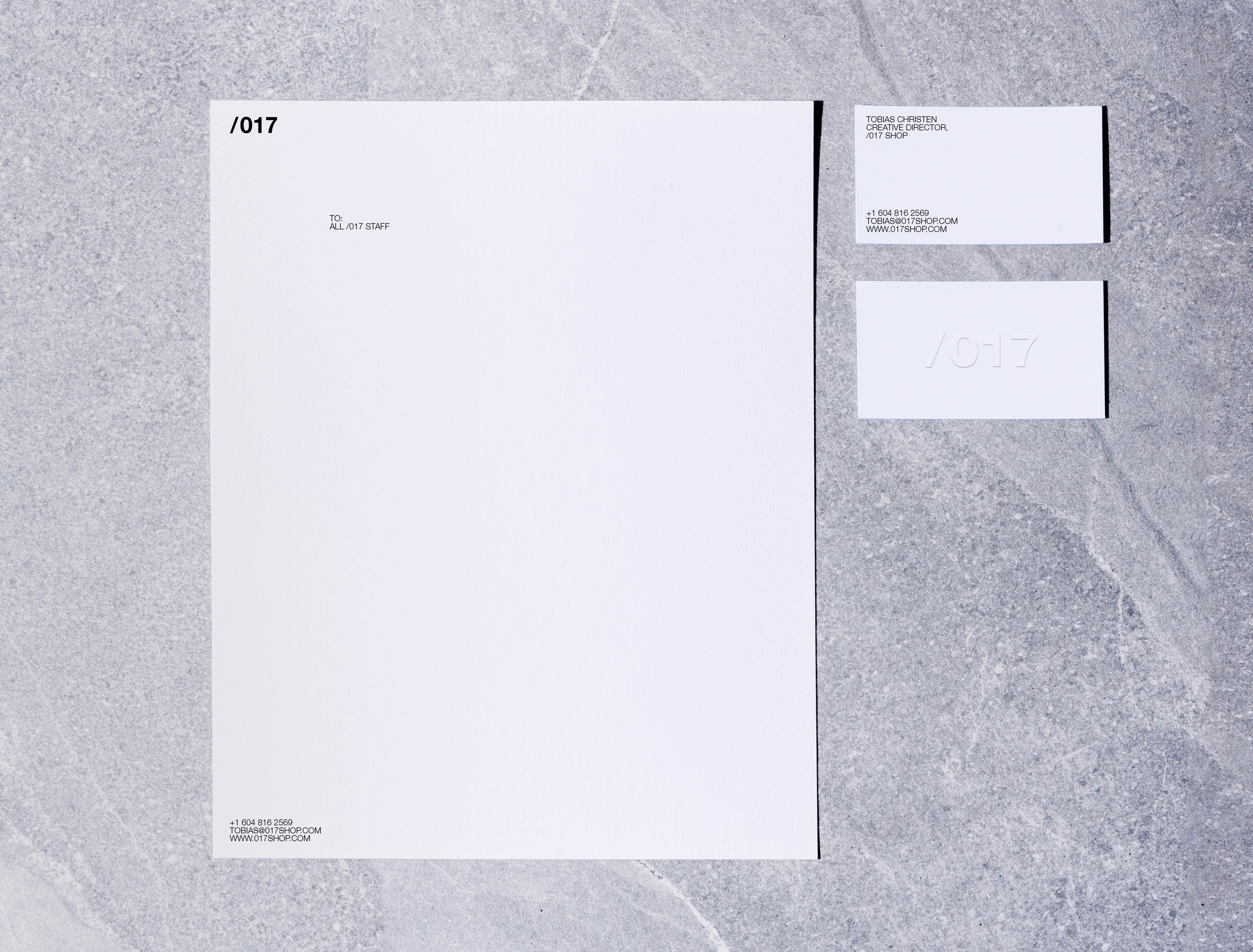 017 branding of letterhead and business card