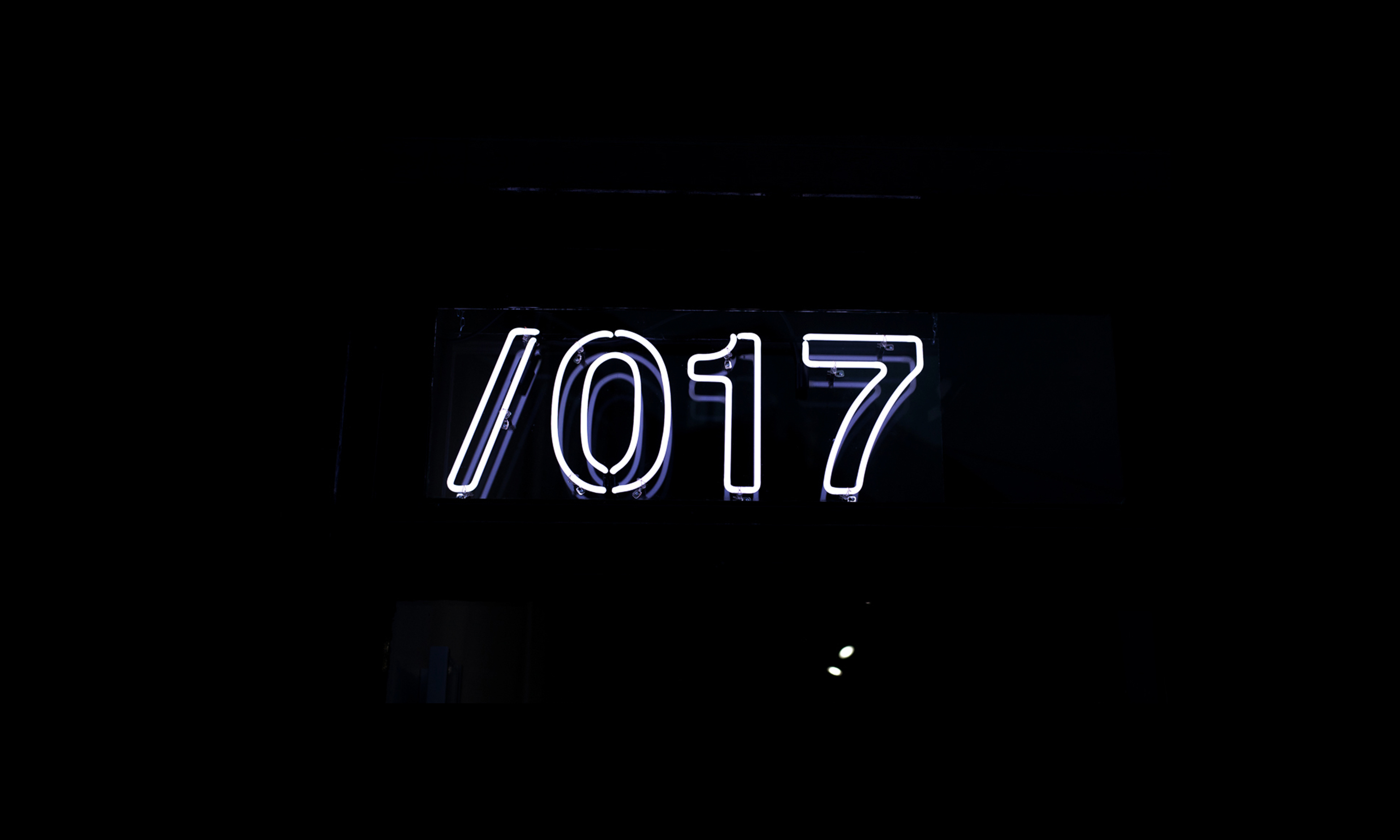 017 branding on neon signage in gastown vancouver