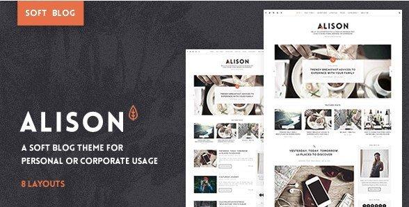 Anne Alison – Soft Personal Blog Theme