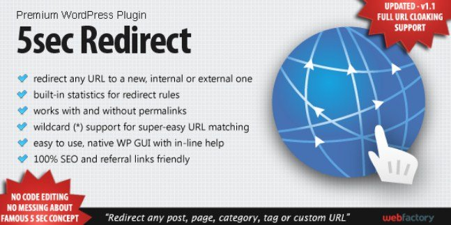 5sec Redirect Wordpress Plugin