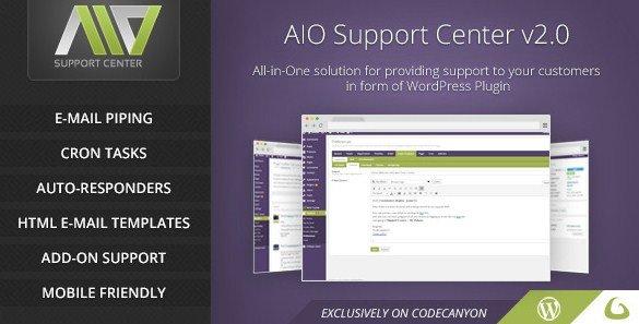 AIO Support Center – WordPress Ticketing System