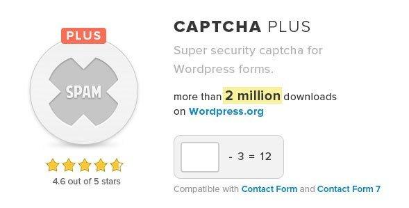 Captcha Plus Wordpress Plugin